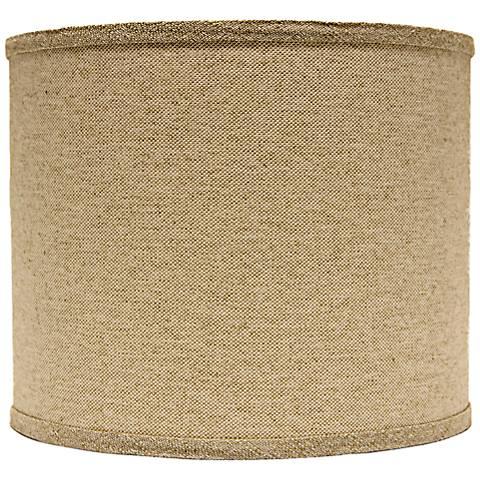 Neutral Heavy Basket Drum Lamp Shade 16x16x13 (Spider)