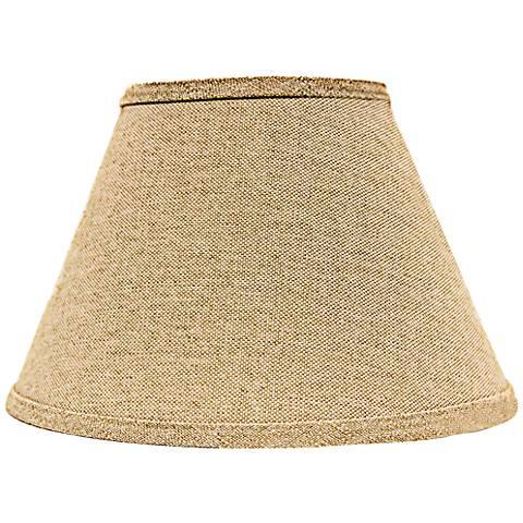 Neutral Heavy Basket Empire Lamp Shade 6x12x8 (Spider)