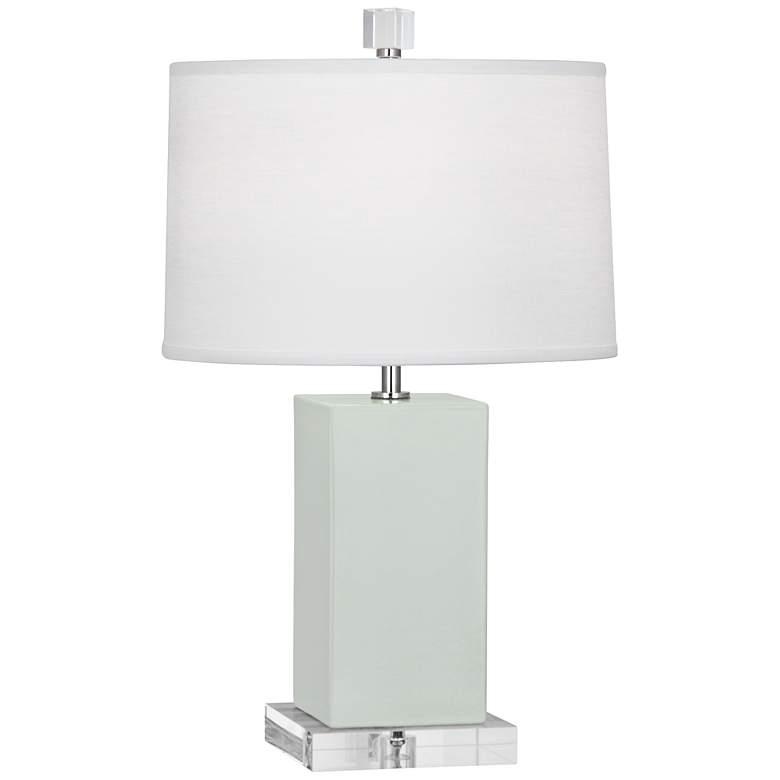 Robert Abbey Harvey Celadon Glazed Ceramic Accent Lamp