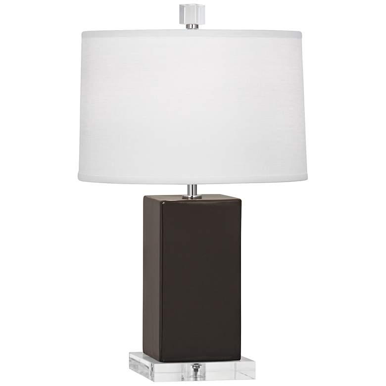 Robert Abbey Harvey Coffee Glazed Ceramic Accent Lamp