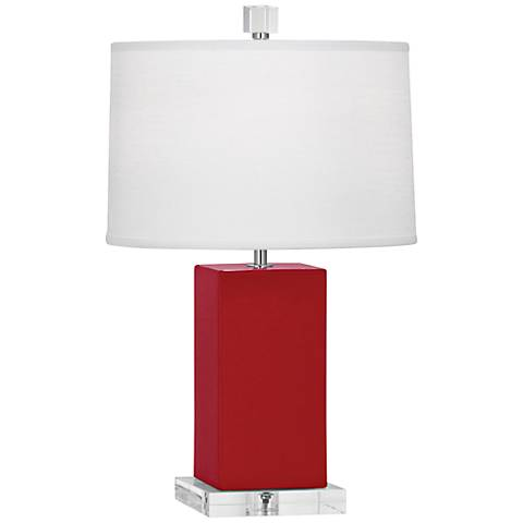 Robert Abbey Harvey Ruby Red Glazed Ceramic Accent Lamp