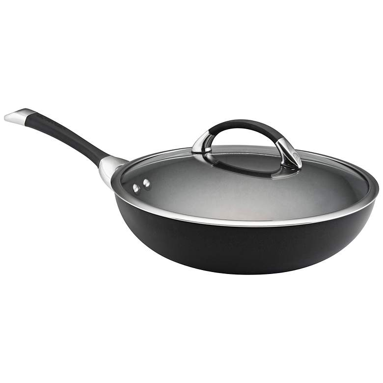 "Circulon Symmetry Black 12"" Stir Fry Wok Pan"