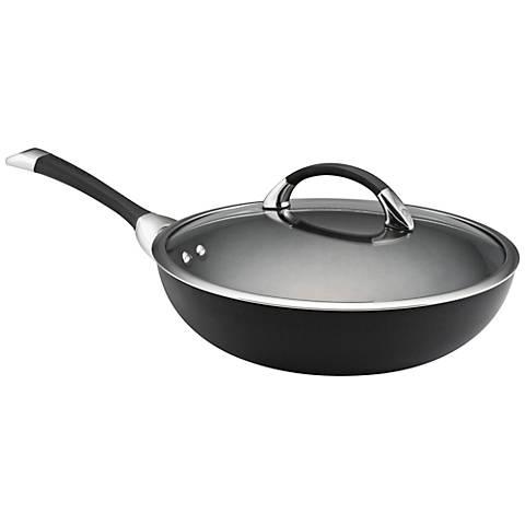 "Circulon Symmetry Black 12"" Ultimate Stir Fry Pan"