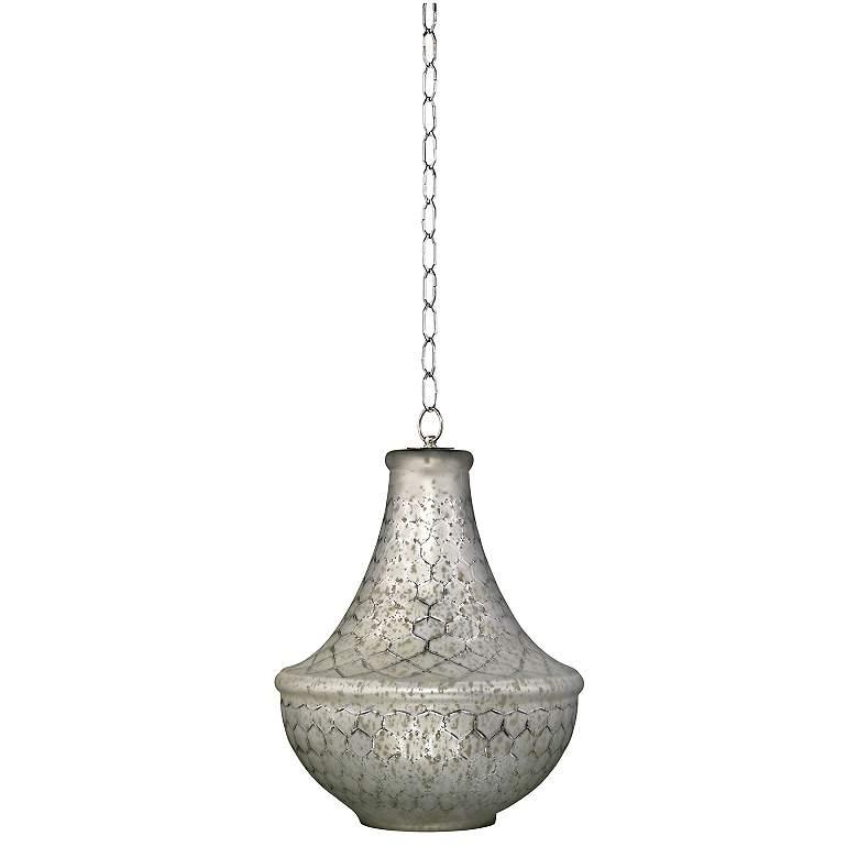 "Nimbus Collection 18"" Wide Lattice Glass Pendant Light"