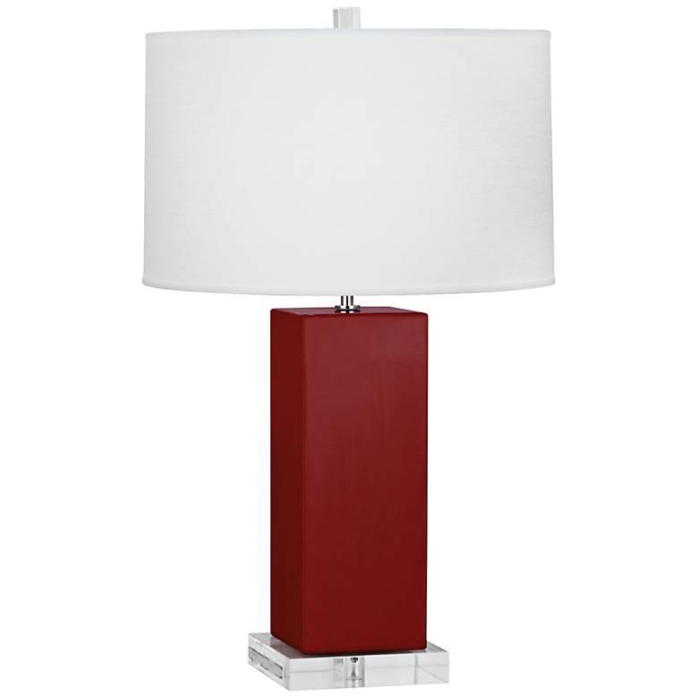 Robert Abbey Harvey Oxblood Glazed Ceramic Table Lamp