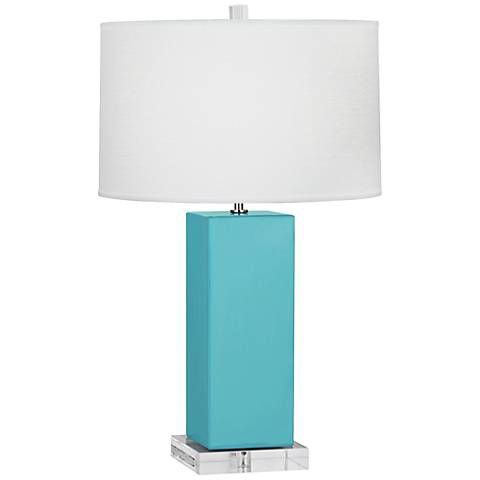 Robert Abbey Harvey Egg Blue Glazed Ceramic Table Lamp