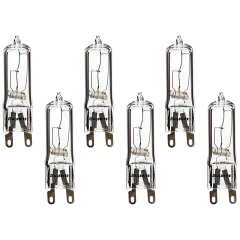 6-Pack 40 Watt  Halogen G9 Clear Glass Light Bulbs