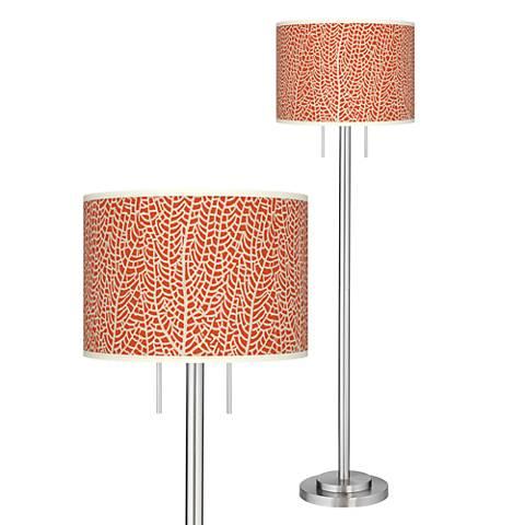 Stacy Garcia Seafan Coral Giclee Nickel Garth Floor Lamp