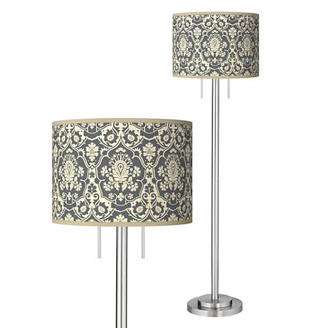 Seedling by thomaspaul Damask Brushed Nickel Floor Lamp
