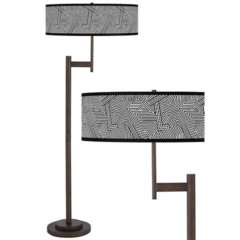 Labyrinth Giclee Parker Light Blaster™ Bronze Floor Lamp