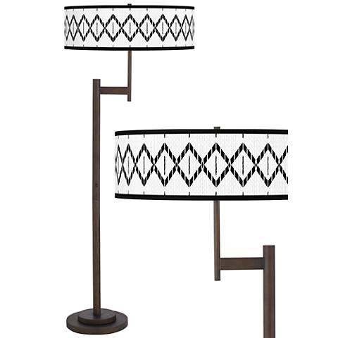 Paved Desert Giclee Parker Light Blaster™ Bronze Floor Lamp