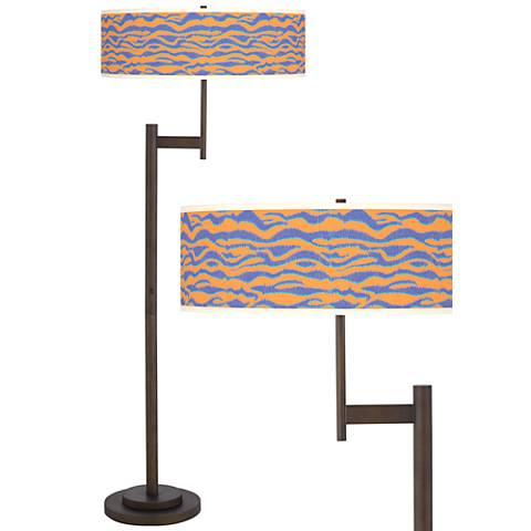 Sunset Stripes Parker Light Blaster™ Bronze Floor Lamp