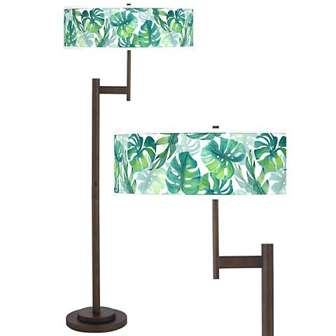 Tropica Giclee Parker Light Blaster™ Bronze Floor Lamp