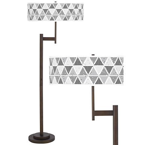 Pointillism Giclee Parker Light Blaster™ Bronze Floor Lamp