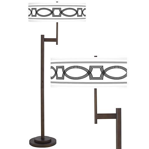 Concave Giclee Parker Light Blaster™ Bronze Floor Lamp
