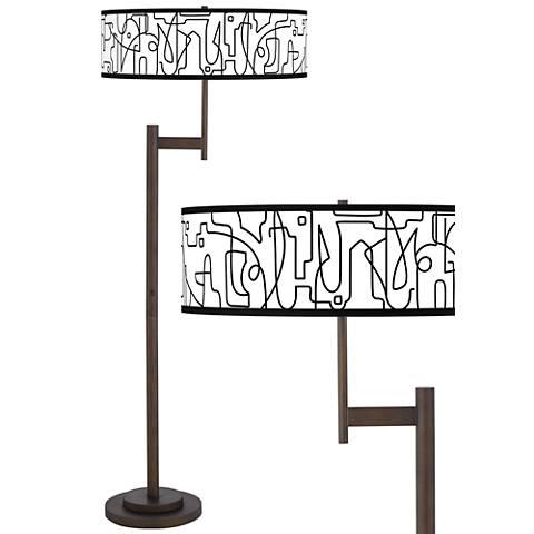 Scribble World Parker Light Blaster™ Bronze Floor Lamp