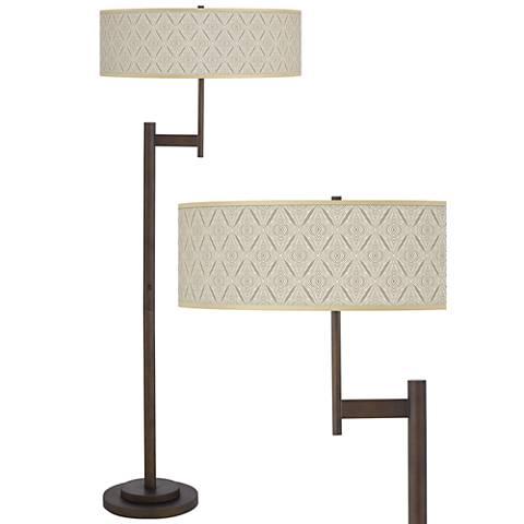 Moroccan Diamonds Parker Light Blaster™ Bronze Floor Lamp
