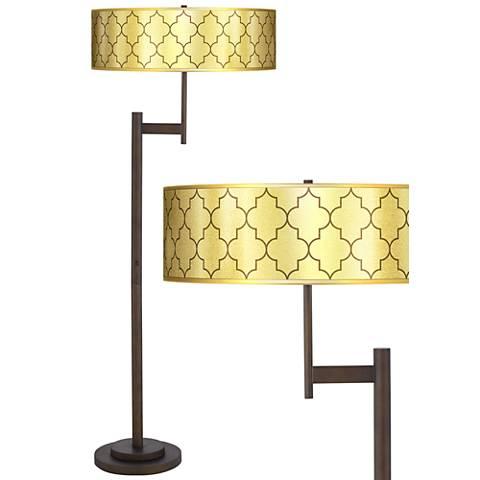 Tangier Gold Metallic Parker Light Blaster™ Floor Lamp