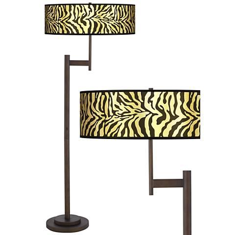 Safari Zebra Gold Metallic Parker Light Blaster™ Floor Lamp