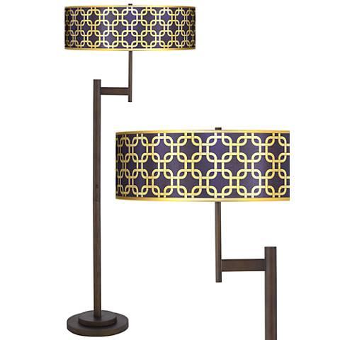 Lattice Gold Metallic Parker Light Blaster™ Floor Lamp