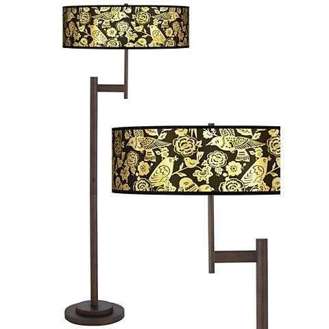 Thomas Paul Aviary Gold Metallic Light Blaster™ Floor Lamp