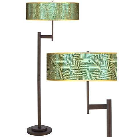 Labyrinth Gold Metallic Parker Light Blaster™ Floor Lamp