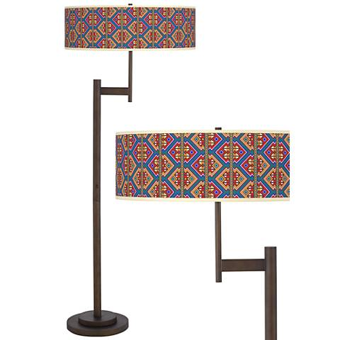 Rich Bohemian Parker Light Blaster™ Bronze Floor Lamp
