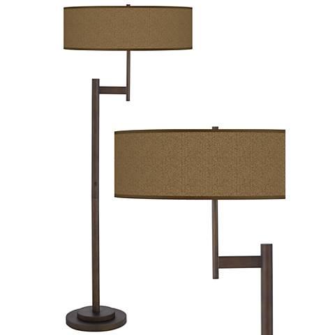 Khaki Giclee Parker Light Blaster™ Bronze Floor Lamp