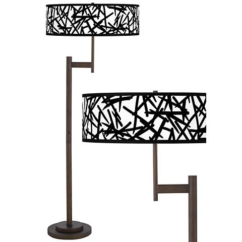 Sketchy Giclee Parker Light Blaster™ Bronze Floor Lamp