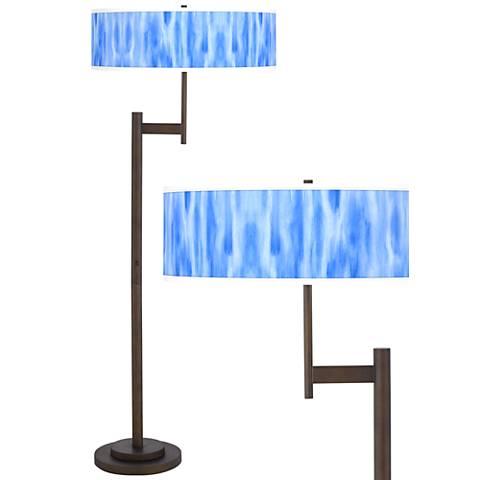 Blue Tide Giclee Parker Light Blaster™ Bronze Floor Lamp