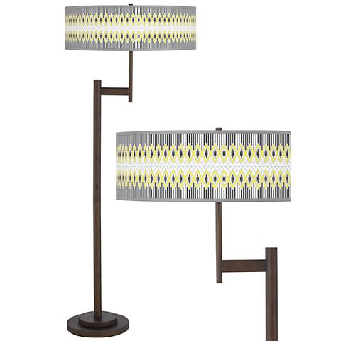 Desert Geometric Parker Light Blaster™ Bronze Floor Lamp