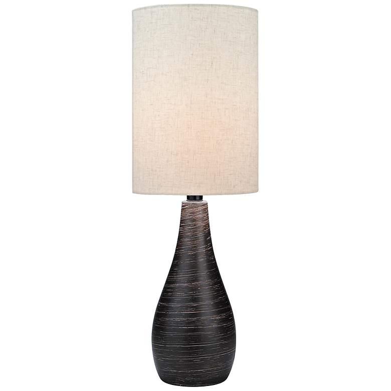 Lite Source Quatro Brushed Dark Bronze Modern Table Lamp