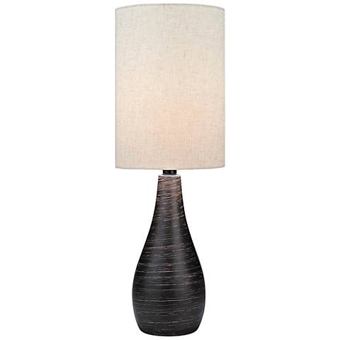 Lite Source Quatro Brushed Dark Bronze Modern Table Lamp