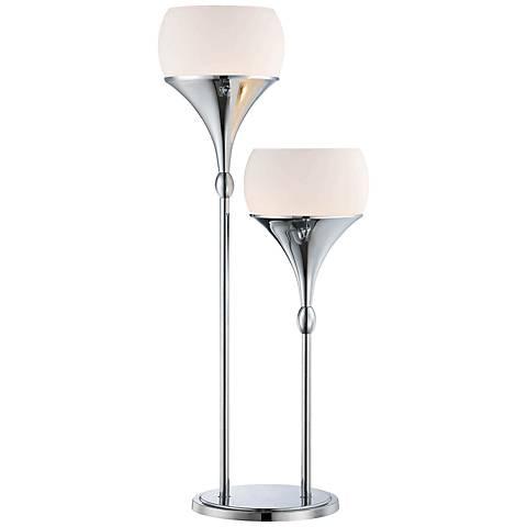 Lite Source Celestel 2-Light Modern Table Lamp in Chrome