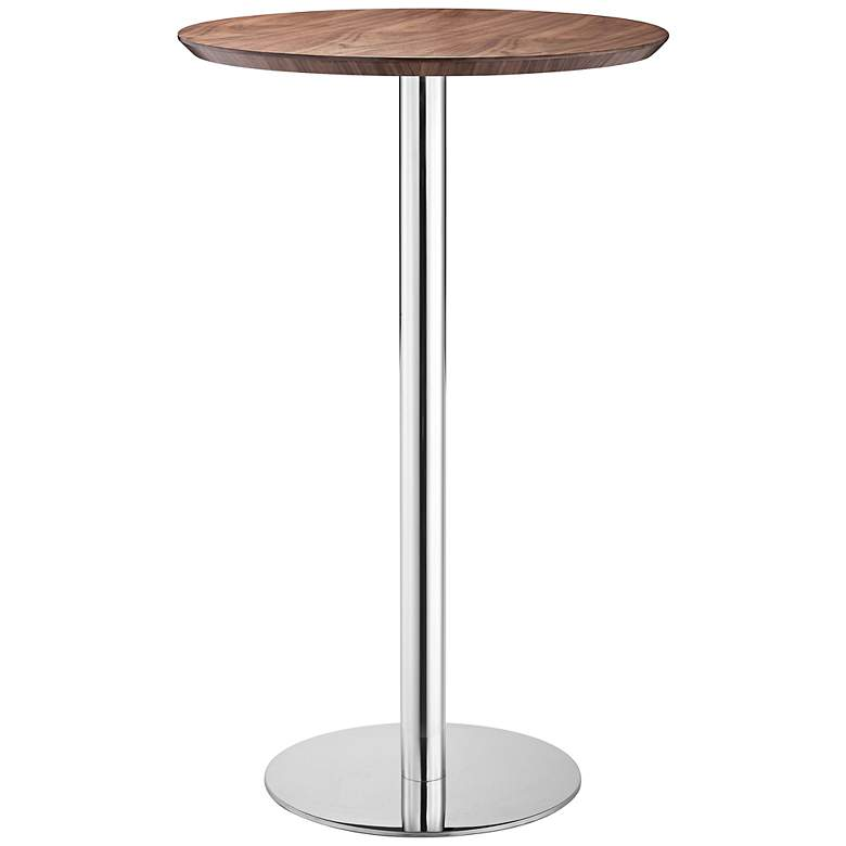 "Bergen 41 1/2"" High Walnut Finish Modern Bar Table by Zuo"