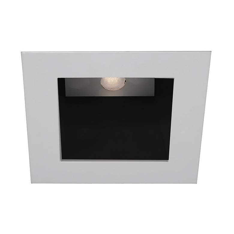 Wac White Black 4 Led Square Recessed Light Trim