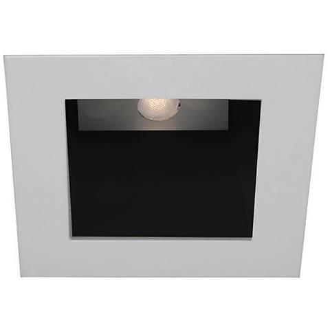 "WAC White - Black 4"" LED Square Recessed Light Trim"