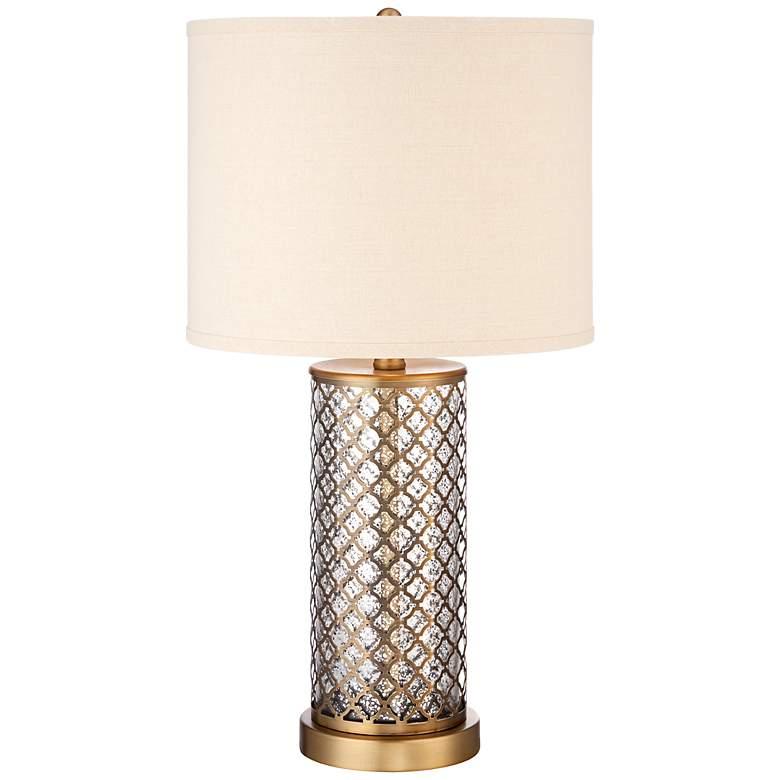 Alcazar Brass and Mercury Glass Table Lamp