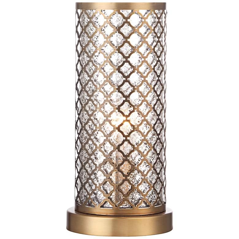 "Alcazar Brass and Mercury Glass 12"" High Accent Light"