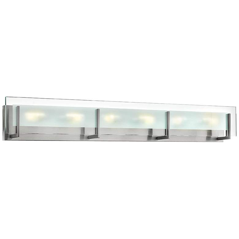 "Hinkley Latitude 37 1/2"" Wide Chrome Bath Light"