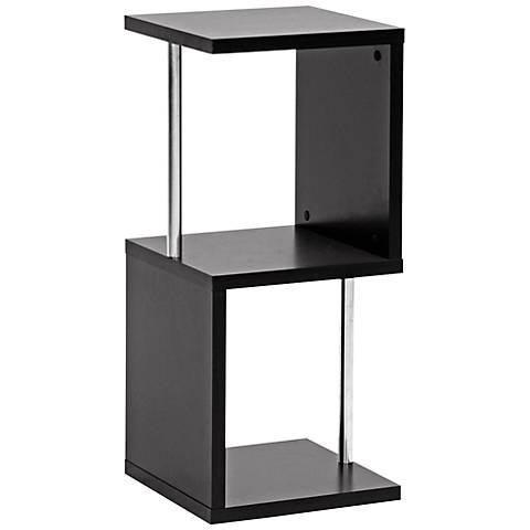 "Lindy Dark Brown Two-Tier 31 1/2"" High Modern Display Shelf"
