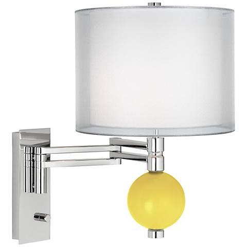 Lemon Twist Sheer Double Shade Niko Swing Arm Wall Lamp