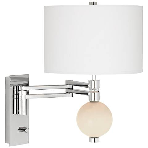 Steamed Milk Niko Swing Arm Wall Lamp