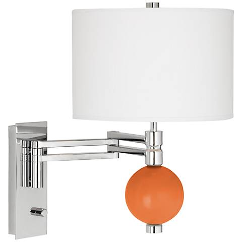 Celosia Orange Niko Swing Arm Wall Lamp