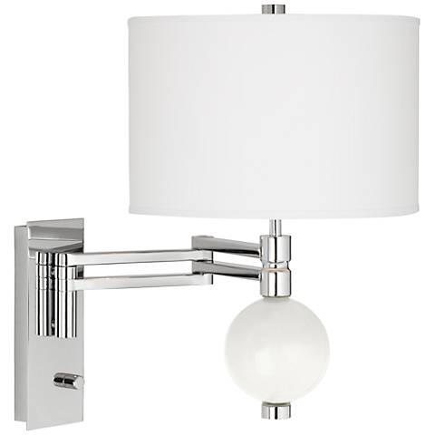 Winter White Niko Swing Arm Wall Lamp