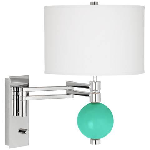 Turquoise Niko Swing Arm Wall Lamp