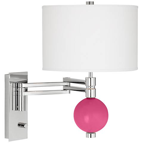 Blossom Pink Niko Swing Arm Wall Lamp