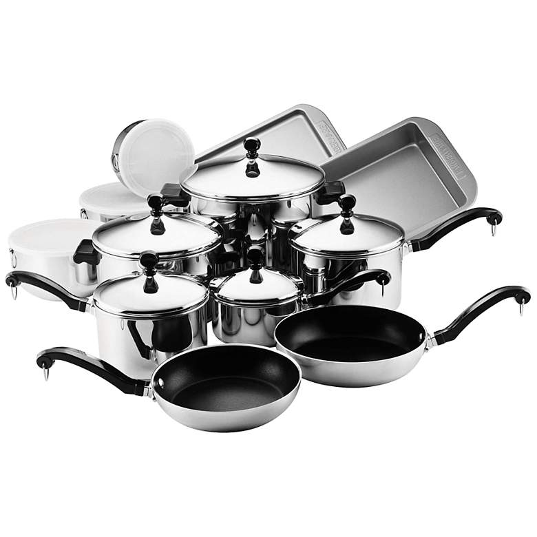 Farberware Stainless Steel 17-Piece Cookware Set
