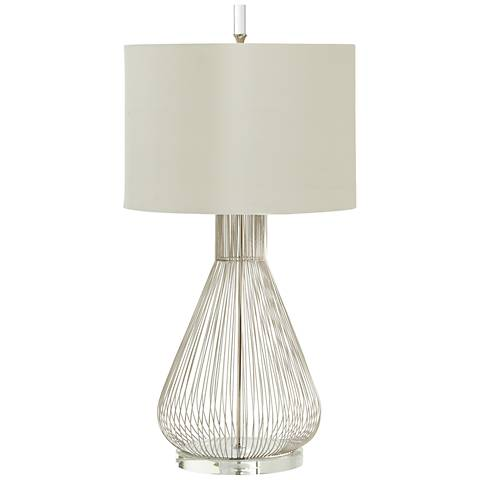 Whisked Fall Iron And Crystal Modern Table Lamp