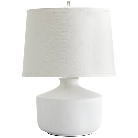 Mountain Snow Contemporary Ceramic Table Lamp